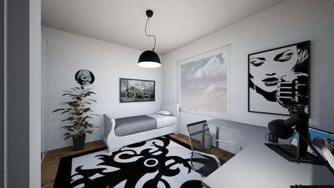 Pokojik - Modern - Bedroom  - by mateq