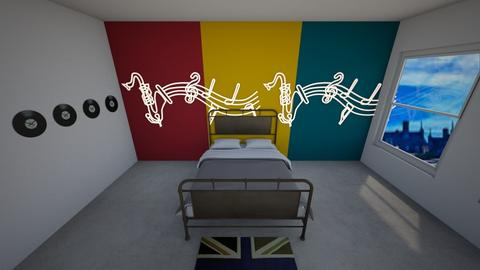 queen inspired room - Retro - Bedroom  - by cherrymary594