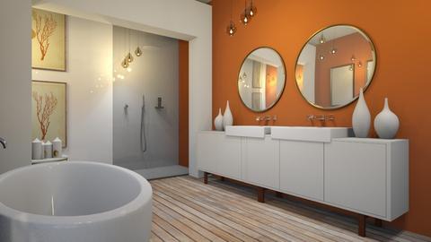 burnt amber - Vintage - Bathroom  - by Ripley86