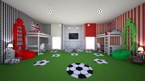 Sports Fan Bedroom - Bedroom  - by MyDesignIdeas