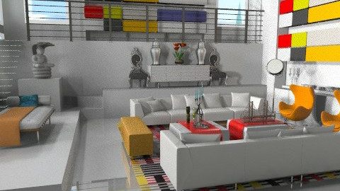 UnitedColors! - Modern - Living room  - by AlSudairy S