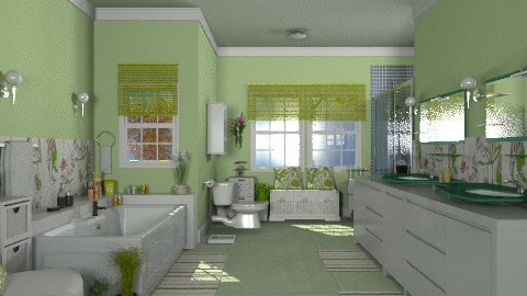 Apple Green - Modern - Bathroom  - by Bibiche
