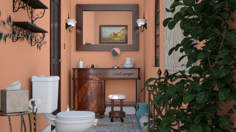 Powder Room - Vintage - Bathroom  - by LNBR