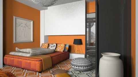 orange  picasso - Eclectic - Bedroom  - by chania