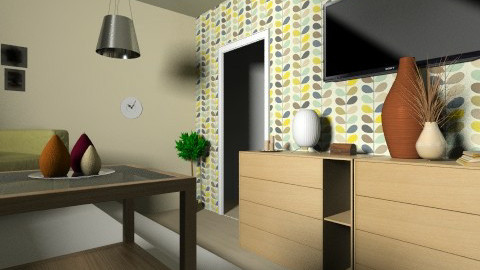 Tropic Room 3 - Vintage - Living room  - by Emsia