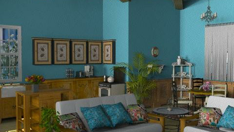 Tropical Breeze2 - Rustic - Living room  - by Bibiche