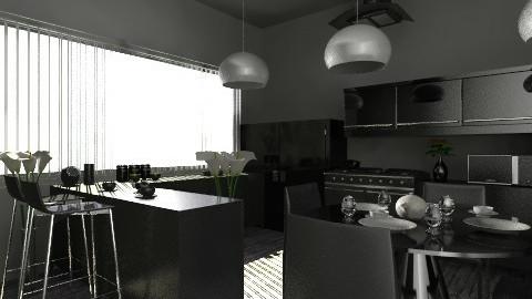 black - Modern - Kitchen - by tita