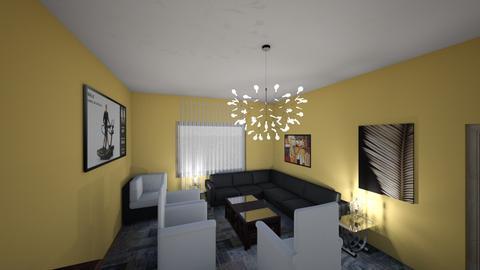 BlackWhiteMyfantasy - Living room - by Miodrag Nencic