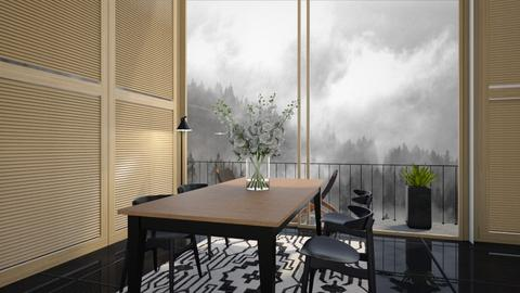 DINNING WITH A VIEW - Dining room  - by zarky