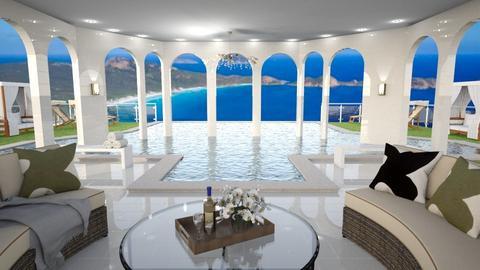 Fancy Hotel Pool - by jjp513