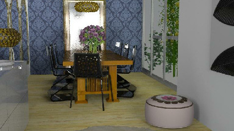Dining room - long - Dining Room  - by KarenWilkinson