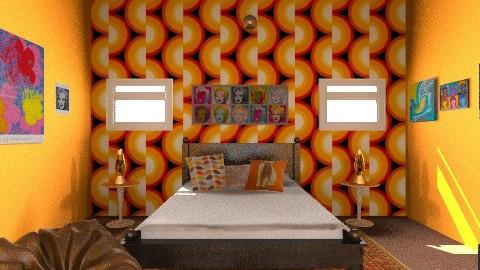 Retro Bedroom - Retro - by yarahalii_