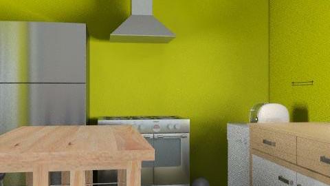 kitchen layout- #2 choice - Minimal - Kitchen  - by cindredm05