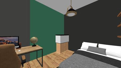 Industrial teenage room - Retro - Bedroom  - by SuperStijn