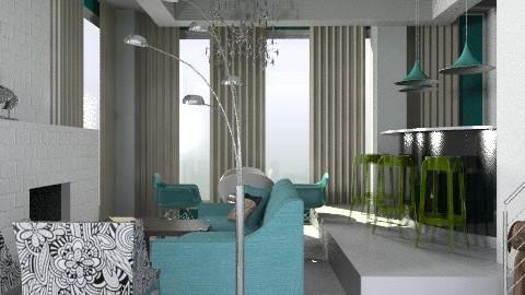 white - Minimal - Living room  - by PomBom