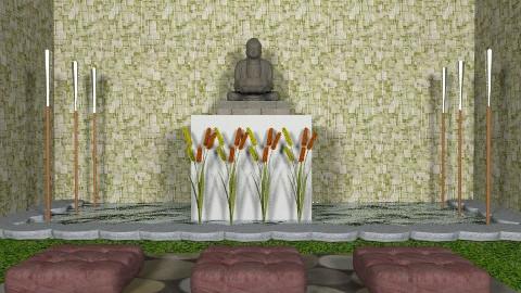 Buddha´s Garden -b - Minimal - Garden  - by sacerdote