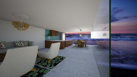 Tropical Living Room  - by FabulousGirl35