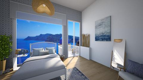 Santorini - Minimal - Bedroom  - by denizoden