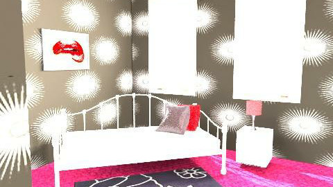 red and black - Glamour - Bedroom  - by lara_sh
