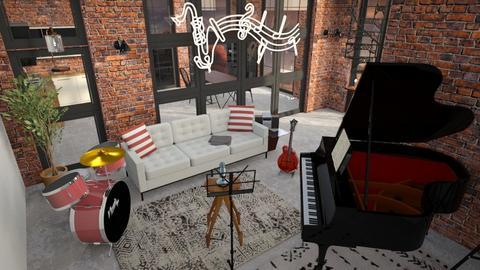 Studio - Modern - Office - by Nocturnalist