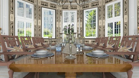 Le Banquet - Classic - Dining room  - by Bibiche