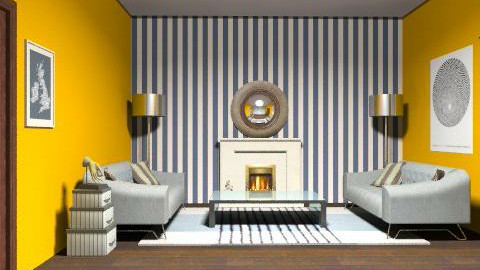Yikes Stripes! - Minimal - Living room - by PennyDreadful