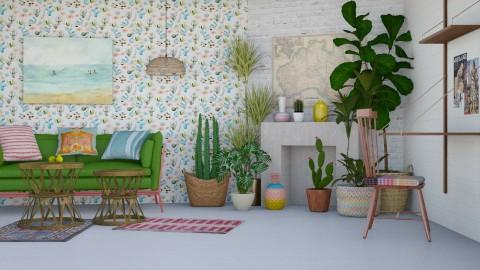 chic jugle - Retro - Living room - by marinmarin