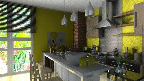 sunny cooking - Eclectic - Kitchen  - by Mike Palustre