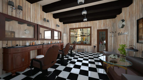 Barber shop - Retro - by GoliaNova