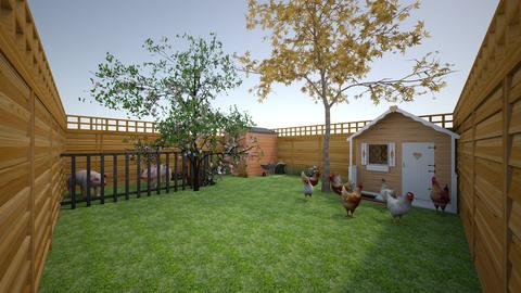 ChickenPigGardenFarmFence - Rustic - Garden  - by jade1111