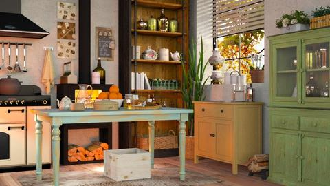 Bohemian Kitchen - Vintage - Kitchen  - by Sally Simpson