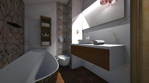 big bathroom stone - Classic - Bathroom - by sancharib