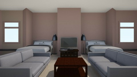 A Hotel Guest Room - Bedroom - by KennediJenson