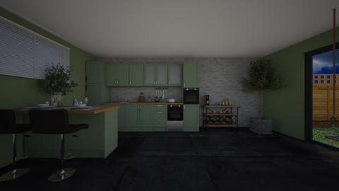 Olive kitchen - Kitchen  - by Noa Jones