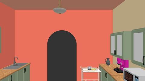 RetroKitchenButlerPantry - Retro - Kitchen - by Lady Clegane