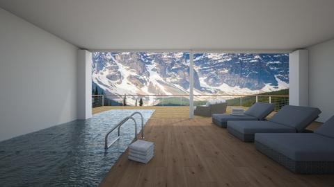 Indoor outdoor pool spa - by KierraClumdesign