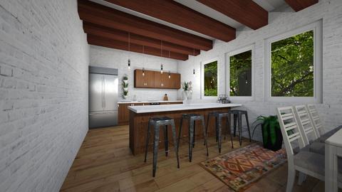 rustic style kitchen - Kitchen  - by jotogoto