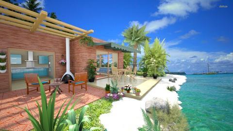 Living on the Beach - Rustic - Garden  - by Bibiche