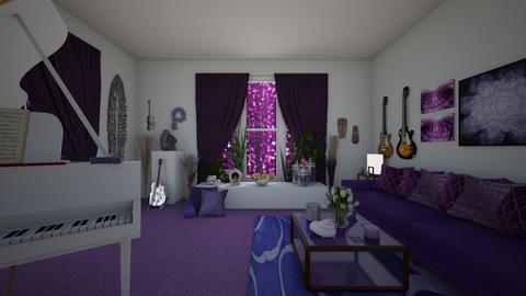 Purple Rain - Masculine - Living room  - by Irishrose58