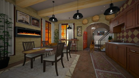 warm kitchen - Classic - Kitchen  - by kla