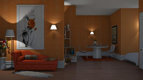 orange white  - Modern - Living room  - by nat mi