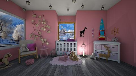 Pink Nursery - Modern - Kids room  - by Dragana2212