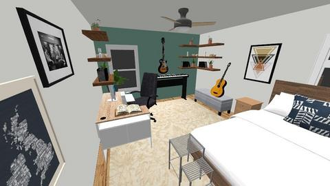 MusicStudioMitch - Bedroom  - by sarahbal