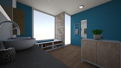 Blue and Black - Bathroom  - by CWidmer