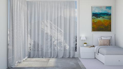 Simple bedroom - by KierraClumdesign