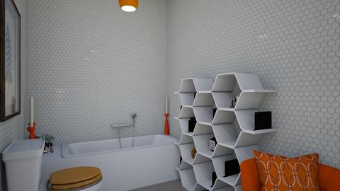 orange bathroom - Classic - Bathroom  - by ulyanchukV