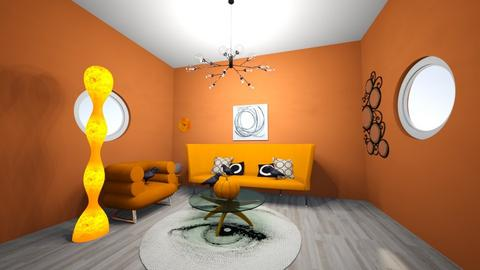 circle halloween - Living room  - by efrankland