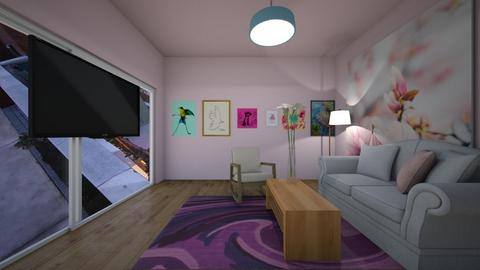 pink lounge - Living room  - by MomoBeag