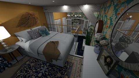 small - Bedroom - by Grigoria Popli