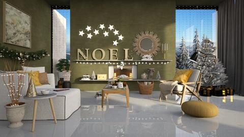 Christmas Wall - Modern - Living room  - by Claudia Correia
